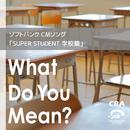 ソフトバンク CMソング「SUPER STUDENT 学校 篇」What Do You Mean/CRA
