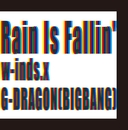 Rain Is Fallin'/HYBRID DREAM(通常盤)/w-inds.