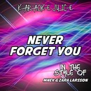 Never Forget You (Originally Performed by MNEK & Zara Larsson) [Karaoke Versions]/Karaoke Juice