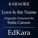 Love Is the Name (Originally Performed by Sofia Carson) [Karaoke No Guide Melody Version]/EdKara