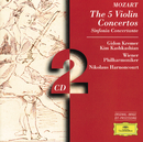 モーツァルト:ヴァイオリン協奏曲全集、協奏交響曲/Gidon Kremer, Wiener Philharmoniker, Nikolaus Harnoncourt