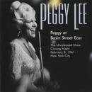 Peggy At Basin Street East/Peggy Lee