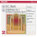Bach, J.C.: 6 Sinfonias Op.3/6; Piano Concertos Op.13 (2 CDs)/Academy of St. Martin in the Fields, Sir Neville Marriner, Ingrid Haebler, Capella Academica, Wien, Eduard Melkus