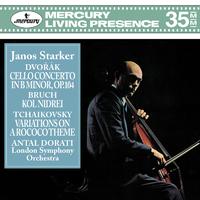 Dvorak: Cello Concerto, Op.104; Bruch: Kol Nidrei;Tchaikovsky: Variations On A Rococo Theme/Janos Starker, London Symphony Orchestra, Antal Dorati
