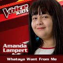 Whataya Want From Me (Ao Vivo / The Voice Brasil Kids 2017)/Amanda Lampert