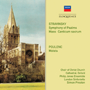 Stravinsky, Poulenc: Choral Works/Choir of Christ Church Cathedral, Oxford, Philip Jones Ensemble, London Sinfonietta, Simon Preston