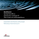 Beethoven : Symphonies Nos 1 & 3, 'Eroica' & Overtures  -  Elatus/Nikolaus Harnoncourt & Chamber Orchestra of Europe