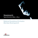 Shostakovich : Symphonies Nos 1 & 9  -  Elatus/Mstislav Rostropovich & National Symphony Orchestra