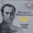 Beethoven : Symphonies Nos 1 & 3, 'Eroica'/Nikolaus Harnoncourt & Chamber Orchestra of Europe