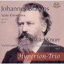 Johannes Brahms: Späte Klaviertrios, op. 101, op. 8 - Iwan Knorr: Variationen über ein Thema von Schubert, op.1/Hyperion Trio