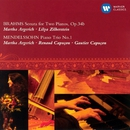 Brahms: Sonata for Two Pianos, Op.34b & Mendelssohn: Piano Trio No.1/Martha Argerich
