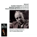 Mozart: Clarinet, Bassoon & Violin Concertos/Sir Thomas Beecham/Royal Philharmonic Orchestra
