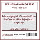 Wir laden ein/Der Heimatland Express