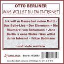 Was willst du im Internet/Otto Berliner