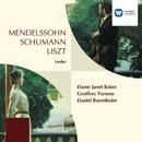 Mendelssohn, Schumann & Liszt Lieder/Geoffrey Parsons/Dame Janet Baker/Daniel Barenboim