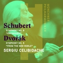 "Schubert: Symphony No. 8, ""Unfinished"" - Dvorák: Symphony No. 9, ""From the New World""/Sergiu Celibidache"