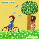 Girl on a Bike/color-me frog