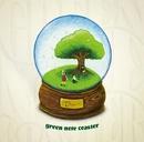tree/green note coaster