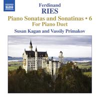 リース: ピアノ・ソナタとソナチネ全集 第6集 4手のための作品集