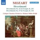 モーツァルト: ディヴェルティメント第11番&第17番/ヘルムート・ミュラー=ブリュール(指揮)/ケルン室内管弦楽団