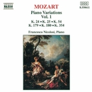 モーツァルト: ピアノ変奏曲集 第1集/フランチェスコ・ニコロージ(ピアノ)