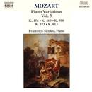 モーツァルト: ピアノ変奏曲集 第3集/フランチェスコ・ニコロージ(ピアノ)