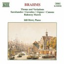 ブラームス: 主題と変奏, サラバンド, ガヴォット/イディル・ビレット(ピアノ)