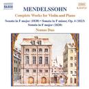 メンデルスゾーン: ヴァイオリンとピアノのための作品(全集)/ノモス・デュオ