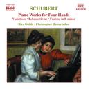 シューベルト: 4手のためのピアノ作品集 第4集/クリストファー・ヒンターフーバー(ピアノ)/リコ・グルダ(ピアノ)