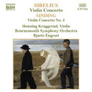 シベリウス: ヴァイオリン協奏曲, シンディング: ヴァイオリン協奏曲第1番/ビャルテ・エンゲセト(指揮)/ヘンニング・クラッゲルード(ヴァイオリン)/ボーンマス交響楽団