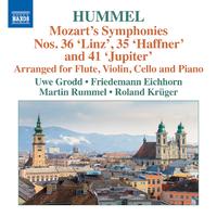 モーツァルト: 交響曲第35番「ハフナー」/第36番「リンツ」/第41番「ジュピター」(フンメルによる室内楽編)