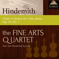 ヒンデミット:八重奏曲/無伴奏ヴィオラ・ソナタ Op25-1/Members of the Fine Arts Quartet / New York Woodwind Quintet