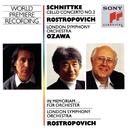Schnittke:  Concerto No. 2  for Cello and Orchestra, In memoriam...for Orchestra/Mstislav Rostropovich
