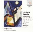 Chopin: Sonata f. Cello+Piano, Chopin/Glazunow: Etude/Emil Klein