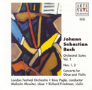 Bach: Orchestral Suites Vol. 1 No. 1+2 Concerto For Oboe And Violin/Ross Pople