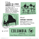 D'Indy: Symphonie sur un Chant Montagnard Français, Op. 25 & Franck: Variations symphoniques & Mozart: Piano Concerto No.21/Charles Munch