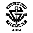 GENERATIONS LIVE TOUR 2018 UNITED JOURNEY SET LIST/GENERATIONS