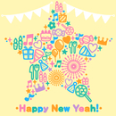 Happy New Yeah!(M@STER VERSION)/島村卯月(CV:大橋彩香)、渋谷凛(CV:福原綾香)、本田未央(CV:原紗友里)、佐藤心(CV:花守ゆみり)、三村かな子(CV:大坪由佳)