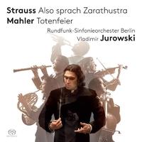 リヒャルト・シュトラウス:交響詩「ツァラトゥストラはかく語りき」、マーラー:交響詩「葬礼」、交響的前奏曲 /ウラディーミル・ユロフスキ(指揮) ベルリン放送交響楽団