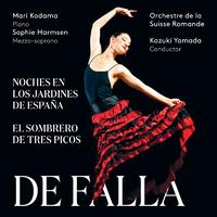 ファリャ:スペインの庭の夜、三角帽子、ほか/山田和樹(指揮) スイス・ロマンド管弦楽団 児玉麻里(ピアノ)、ほか