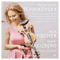 チャイコフスキー:ヴァイオリン協奏曲、ほか/ユリア・フィッシャー(ヴァイオリン) ロシア・ナショナル管弦楽団 ヤコフ・クライツベルク(指揮)