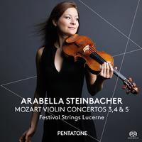モーツァルト:ヴァイオリン協奏曲第3、4&5番/アラベラ・美歩・シュタインバッハー(ヴァイオリン) ルツェルン祝祭弦楽合奏団