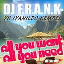 All You Want, All You Need (Remixes)/Dj F.R.A.N.K Vs. Ivanildo Kembel