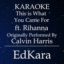 This is What You Came For (Originally Performed by Calvin Harris feat. Rihanna) [Karaoke No Guide Melody Version]/EdKara