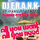 All You Want, All You Need (Dennis Cartier Remix)/Dj F.R.A.N.K Vs. Ivanildo Kembel