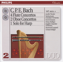 Bach, C.P.E.: 4 Flute Concertos; 2 Oboe Concertos, etc./Heinz Holliger, Ursula Holliger, Aurèle Nicolet, Netherlands Chamber Orchestra, David Zinman, English Chamber Orchestra, Raymond Leppard