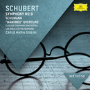 """Schubert: Symphony No.9; Schumann: """"Manfred"""" Overt/Chicago Symphony Orchestra, Los Angeles Philharmonic, Carlo Maria Giulini"""