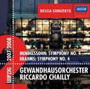 Mendelssohn: Symphony No.4 / Brahms: Symphony No.4/Gewandhausorchester Leipzig, Riccardo Chailly