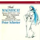 Bach, J.S.: Magnificat in D Major; Mass in A Major; Mass in F Major; Mass in G Minor; Mass in G Major/Peter Schreier, Barbara Bonney, Birgit Remmert, Rainer Trost, Olaf Bär, RIAS Kammerchor, Kammerorchester Carl Philipp Emanuel Bach