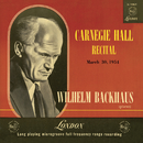 Carnegie Hall Recital 1954 (Live)/Wilhelm Backhaus